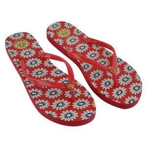 NEW Tory Burch Primrose Flower Flip Flop Sandals